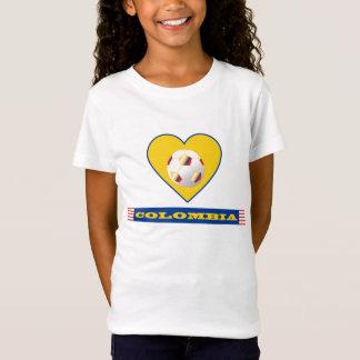 T-Shirt FOOTBALL COLOMBIE National Team ballon et coeur