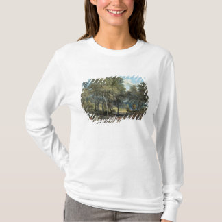 T-shirt Forêt de Windsor avec des boeufs dessinant le bois