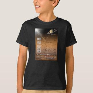 T-shirt Formation de la lune de Saturn de planète de la