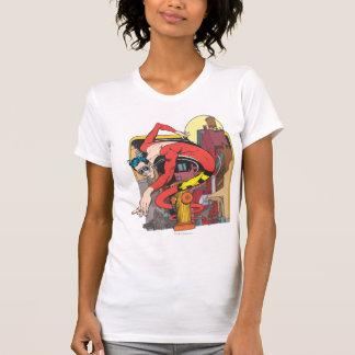 T-shirt Forme-Décalages en plastique d'homme dans la ville