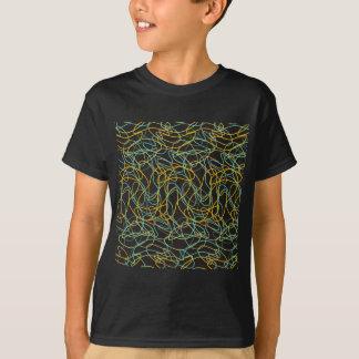 T-shirt Formes organiques avec l'arrière - plan noir