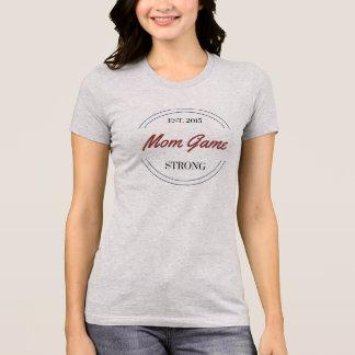 T-shirt fort de jeu frais de maman