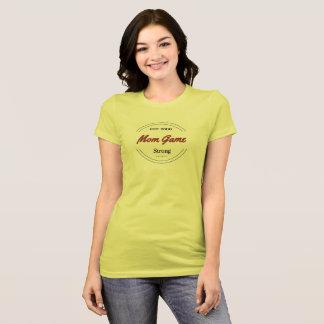 T-shirt fort de jeu vibrant de maman
