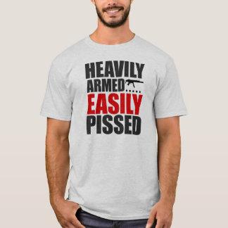 T-shirt Fortement armé facilement pissé