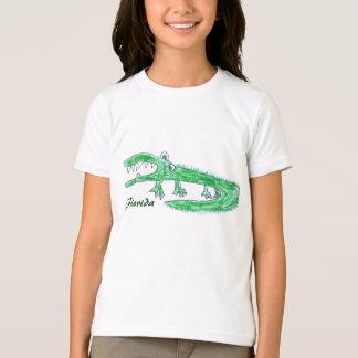 T-shirt fou de bande dessinée d'alligator