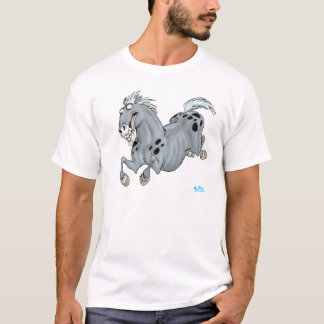 T-shirt fou de cheval de bande dessinée