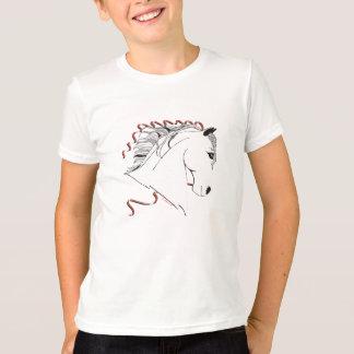 T-shirt fou de sonnerie de cheval de filles