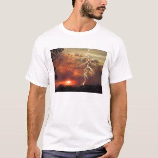 T-shirt foudre au coucher du soleil
