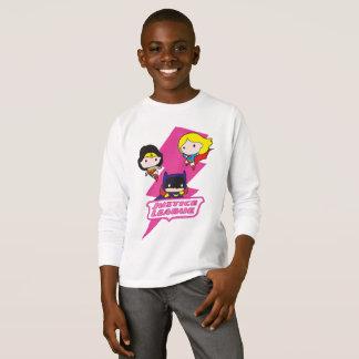 T-shirt Foudre de rose de ligue de justice de Chibi