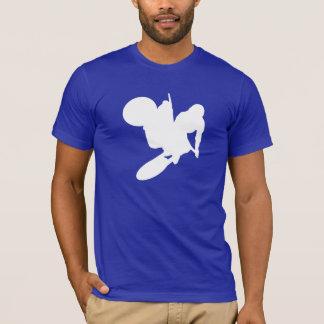 T-shirt Fouet bleu de motocross