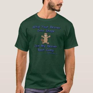T-shirt Fouettez votre castor dans la forme