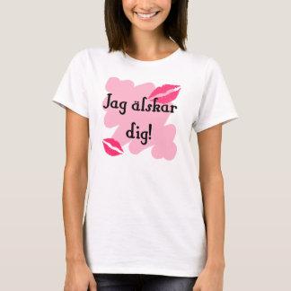 T-shirt Fouille älskar de pointe - Suédois