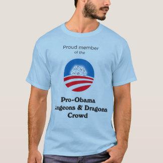 T-shirt Foule de Pro-Obama D&D (chemise dégrossie de bleu