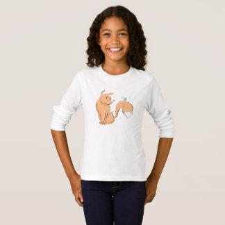 T-shirt Fox avec le longsleeve de papillon