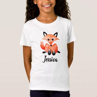 T-Shirt Fox de faune de région boisée d'aquarelle de