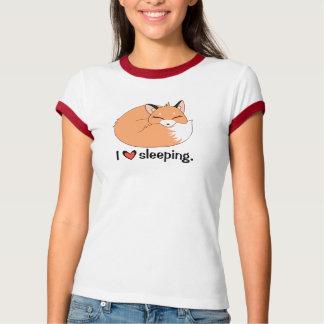 """T-shirt Fox de sommeil """"de sommeil d'amour"""""""