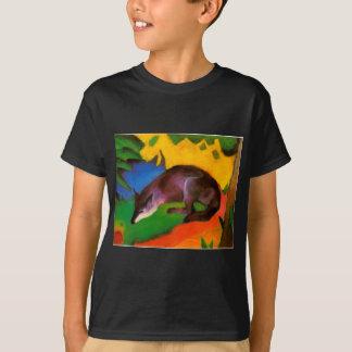 T-shirt Fox noir bleu de Franz Marc