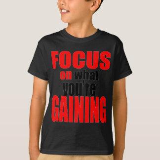 T-shirt foyer gagnant la motivation optimiste de vue