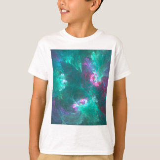 T-shirt Fractale abstraite dans une palette froide