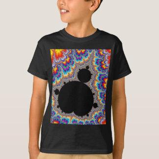 T-shirt Fractale réglée multicolore brillante de