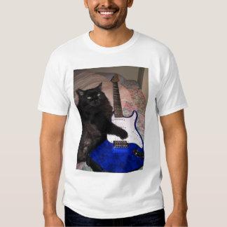 T-shirt frais de chat de rock