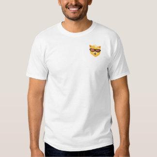 T-shirt frais d'Emoji de chat (en haut à gauche