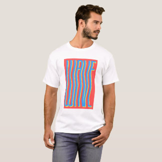 T-shirt frais d'illusion de vague