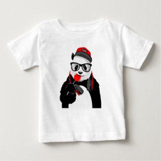 T-shirt frais du Jersey d'amende de bébé de panda