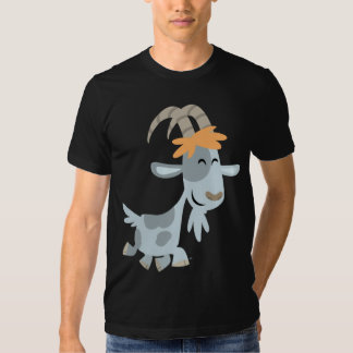T-shirt frais mignon de chèvre de bande dessinée