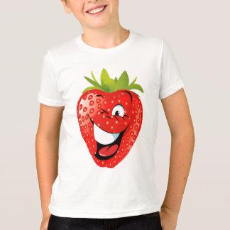 T-shirt fraise animated heureuse drôle