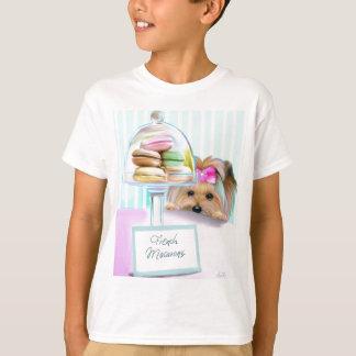 T-shirt Français Macarons de Yorkie