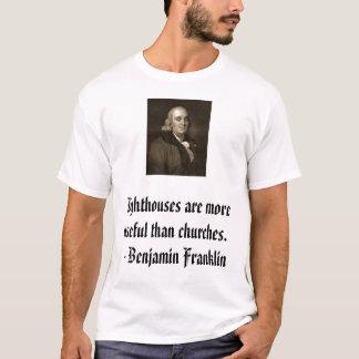 T-shirt Franklin sur des églises