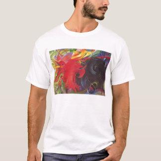 T-shirt Franz Marc - le combat forme le rouge noir de 1914