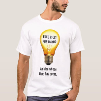T-shirt Fred Ricci pour le maire-- chemise d'ampoule