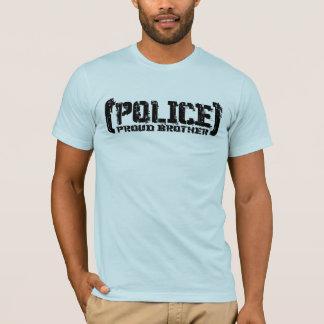T-shirt Frère fier - POLICE déchirée en lambeaux