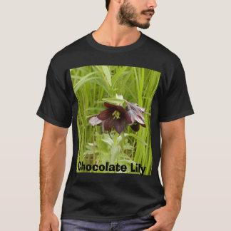 T-shirt fritilaria, lis de chocolat