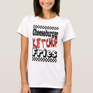T-shirt Fritures de ketchup de cheeseburger