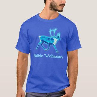 T-shirt Fröhliche Weihnachten - caribou bleu (renne)