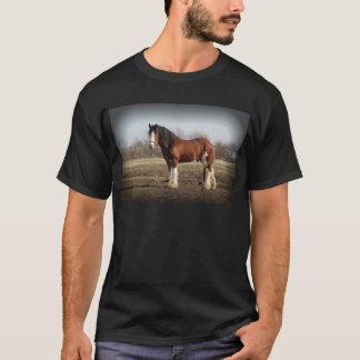 T-shirt frontière noire de clydesdale