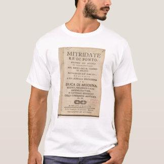 T-shirt Frontispice d'une copie tôt