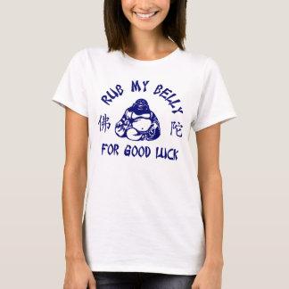 T-shirt Frottez mon ventre de Bouddha pour la bonne chance