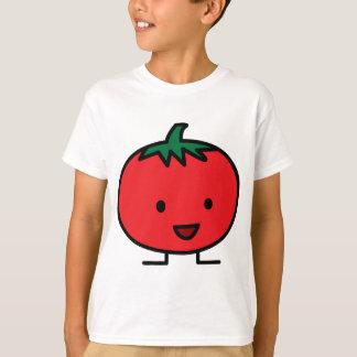 T-shirt Fruit végétal rouge de tomate heureuse