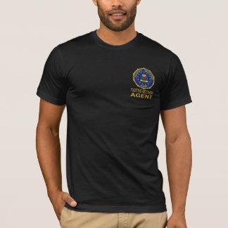 T-shirt FUGITIF noir d'AGENT de RÉCUPÉRATION
