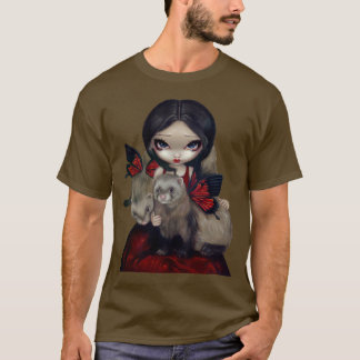 T-shirt Furet féerique gothique de papillon de chemise