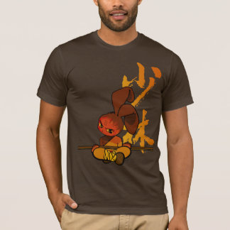 T-shirt fureur de lapin de shaolin de fer