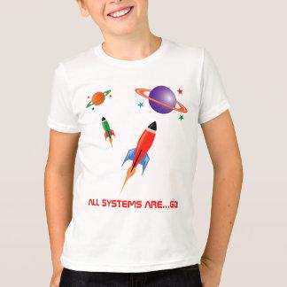 T-shirt Fusées d'espace colorées fraîches