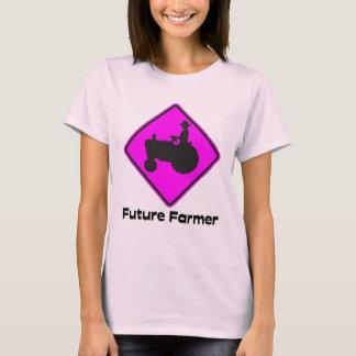 T-shirt Futur rose d'agriculteur