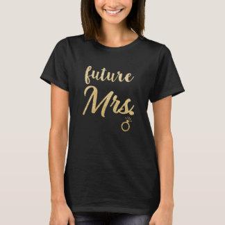 T-shirt Future Mme Bride pour épouser la chemise de