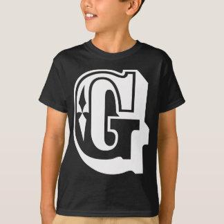 """T-shirt """"G"""" est pour Gangsta - pièce en t de lettre"""