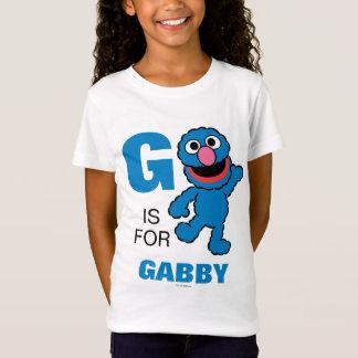 T-Shirt G est pour Grover que   ajoutent votre nom